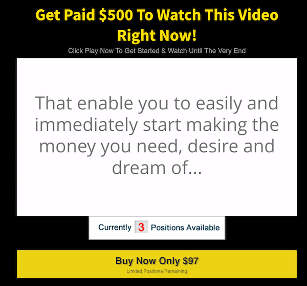 Sales Video that leads to system called Website ATM