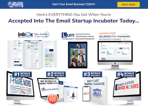 Email Startup Incubator Package