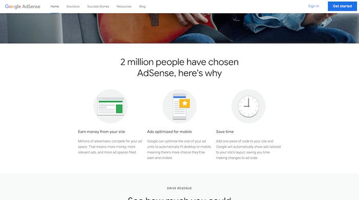 Google Adsense Website