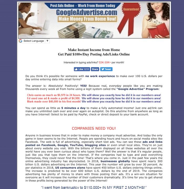 GoogleAdvertise.com Website
