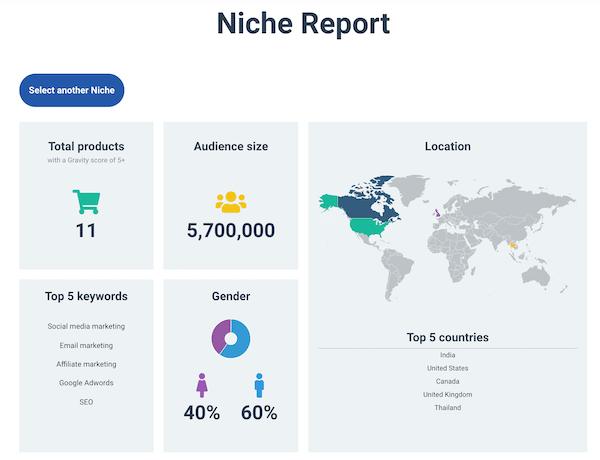 Niche Report using Niche Detective