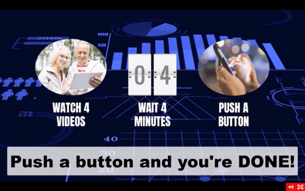 Push Button Claims in Sales Video