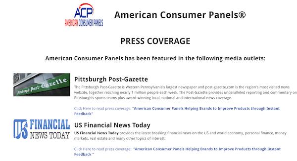 Press coverage for ACP