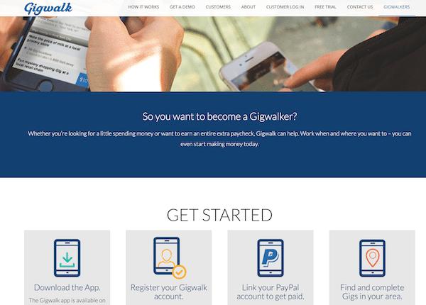 Gigwalk App Website