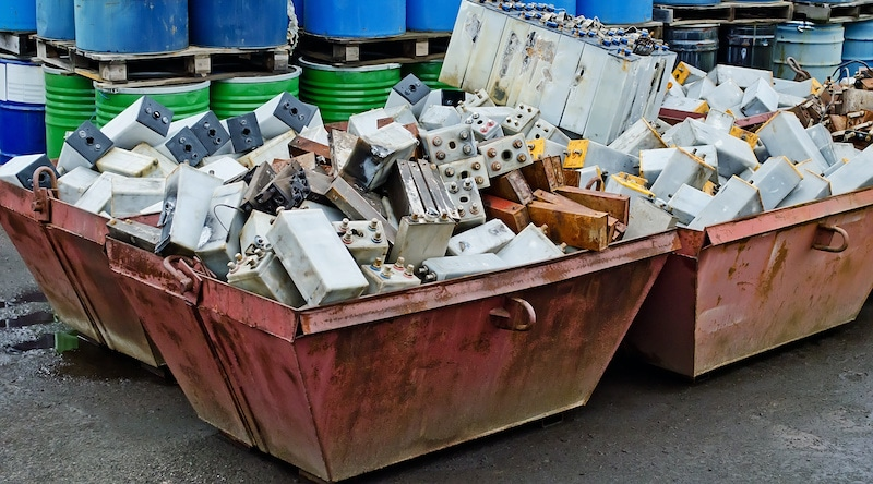 Pile of Junk Batteries to be Recycled