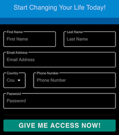 Step 1 is Registering Your Account