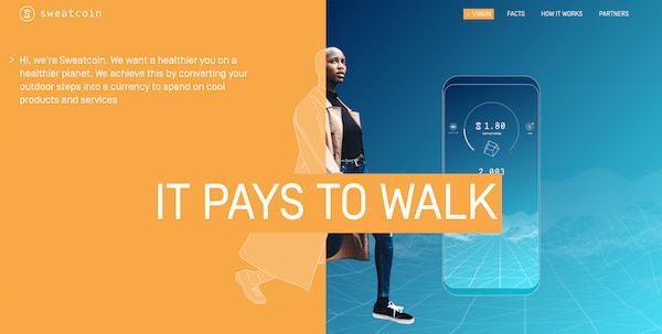 Sweatcoin App Website