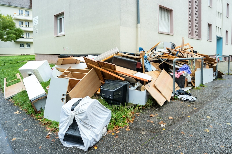 Pile of Junk on Side of Road