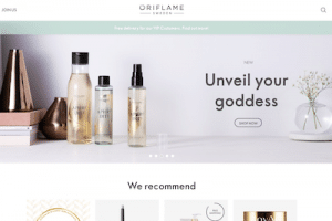 Oriflame website homepage