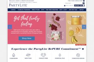 PartyLite Website Homepage