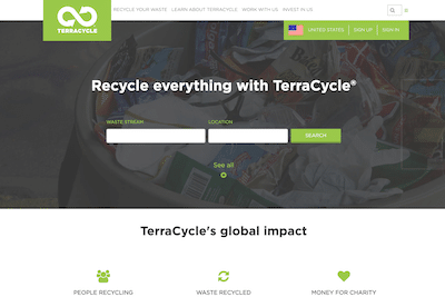Terracycle Website Review Feature