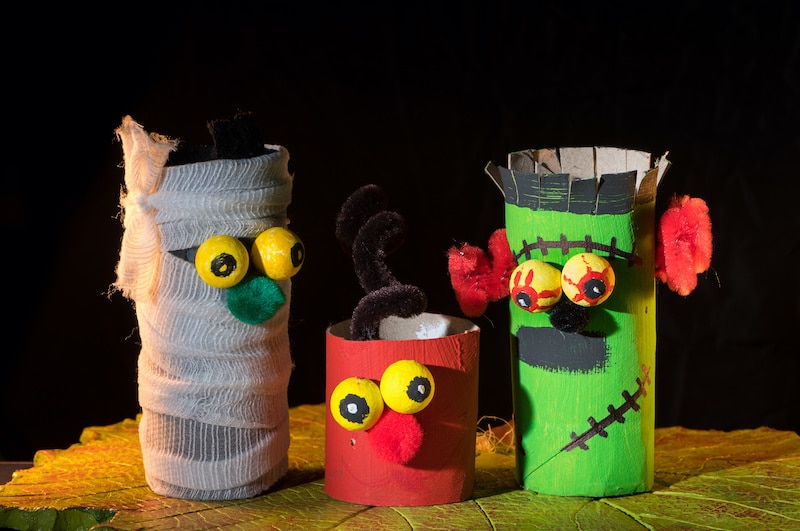 Toilet rolls made into crafts for kids