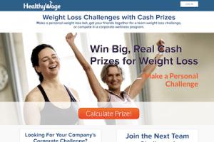 HealthyWage website homepage