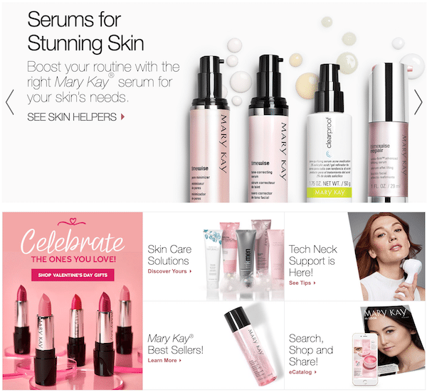 Selling Mary Kay beauty products
