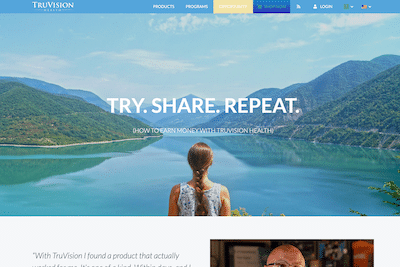 Truvision Health MLM website
