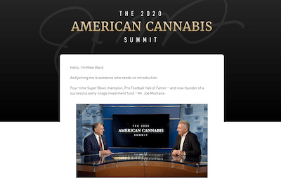 American Cannabis Summit 2020 website