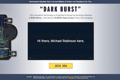 Michael Robinson's Dark Burst presentation