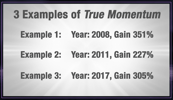 Examples of True Momentum stock picks