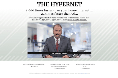 Jeff Yastine talking about the Hypernet in a sales presentation