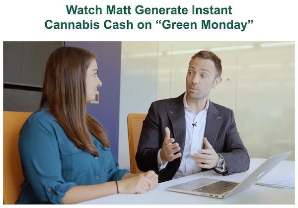 Matt McCall making money on Green Monday