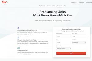 Rev.com work at home website