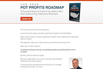 The 2020 Pot Profits Roadmap website