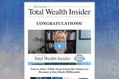 Website for Total Wealth Insider by Jeff Yastine