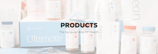 Xyngular products page on company website.