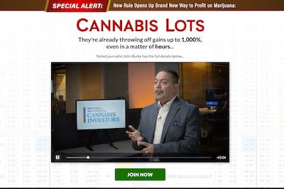 Tom Gentile's Cannabis Lots presentation