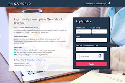QA World review banner