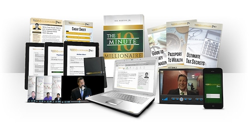 Overview of The 10 Minute Millionaire Insider subscription contents