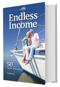 Endless Income book cover showing elderly retired couple on a boat.