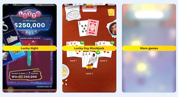Games on Lucky Day App