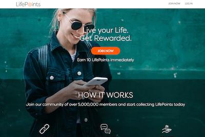 Make money with LifePoints taking surveys.