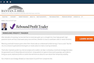Banyan Hill's Rebound Profit Trader