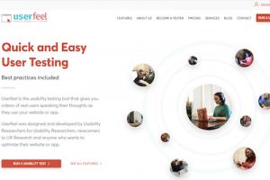 Userfeel user testing website.