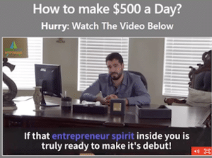 Presentation featuring Mason Brown of Profit Point Autonomy, where he talks about how you could make $500 per day with his money making website app.