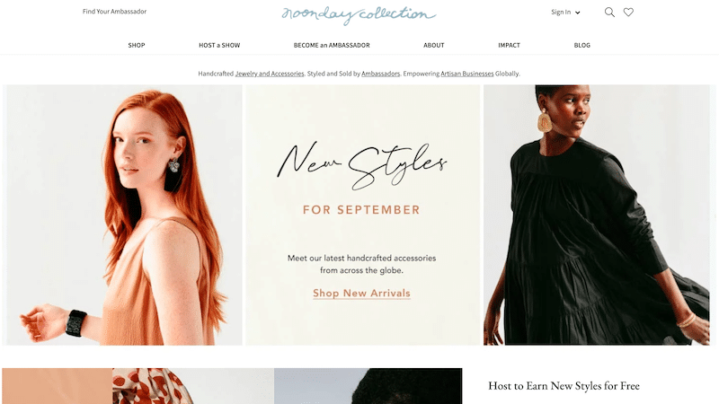 Noonday Collections website