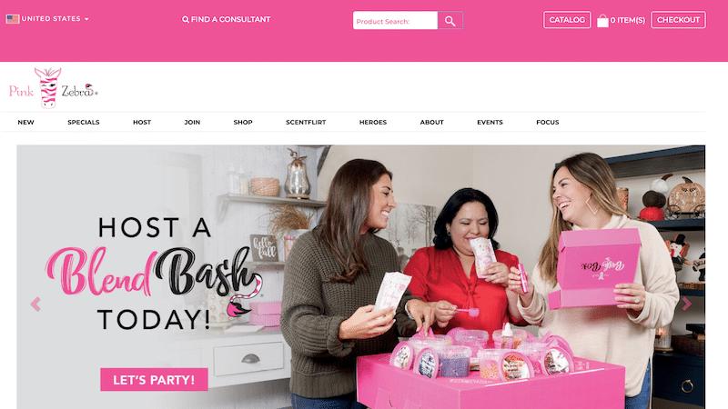 Pink Zebra consultant website