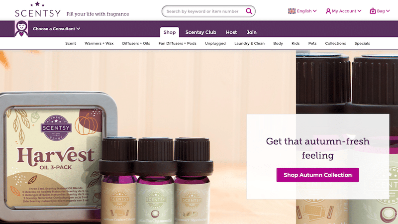 Scentsy website