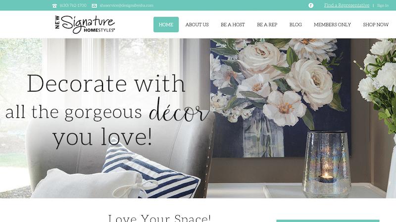 Signature Homestyles website