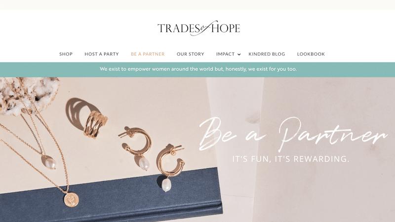 Trades of Hope Website