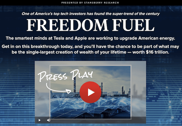 Freedom Fuel presentation featuring Eric Wade of Stansberry Research.