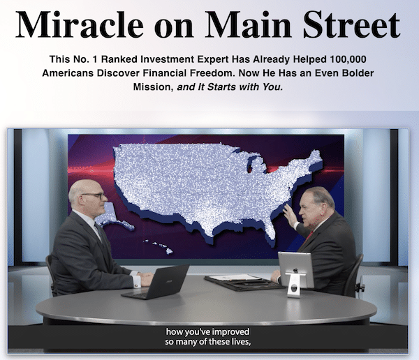 Miracle On Main Street presentation featuring Charles Mizrahi and Mike Huckabee.