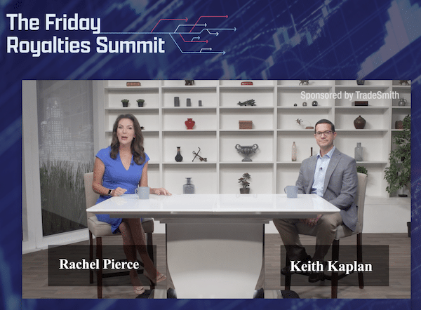 The Friday Royalties Summit featuring Rachael Pierce and Keith Kaplan explaining the benefits of joining the CoPilot by TradeSmith service.