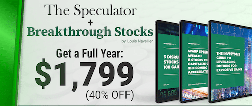Contents of The Speculator and Breakthrough Stocks package.