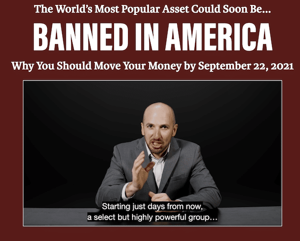 """Andy Snyder during his """"Banned In America"""" presentation on the Manward Press website."""
