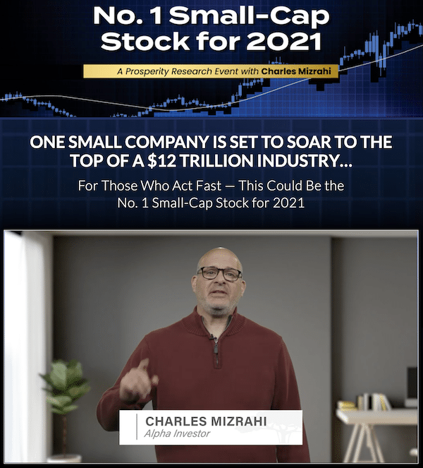 Charles Mizrahi in a presentation about his number one small-cap stock for 2021.