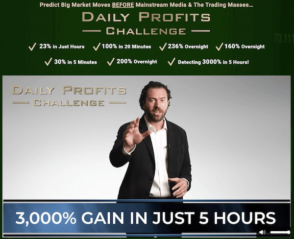 Daily Profits Challenge presentation on the WealthPress website.