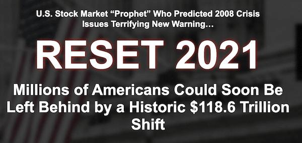 Dr. Stephen Leeb's Reset 2021 presentation.